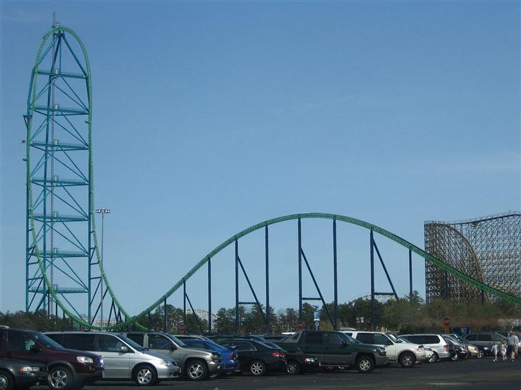 1. Луна-парк Six Flags (Грейт Эдвенчер)  лунапарк, места, парк аттракционов