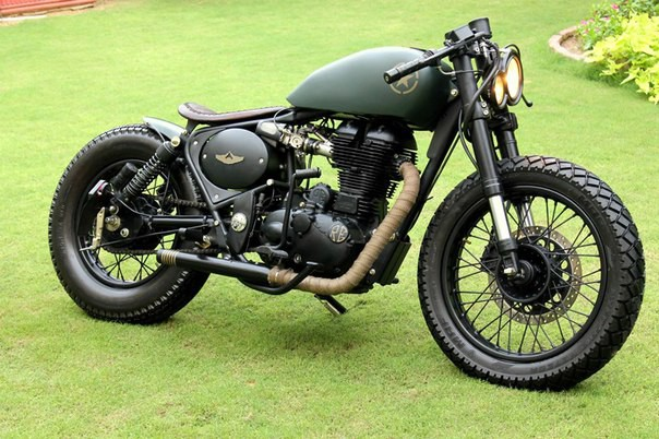 Боббер Assault Royal Enfield, assault, авто, боббер, мото, мотоцикл