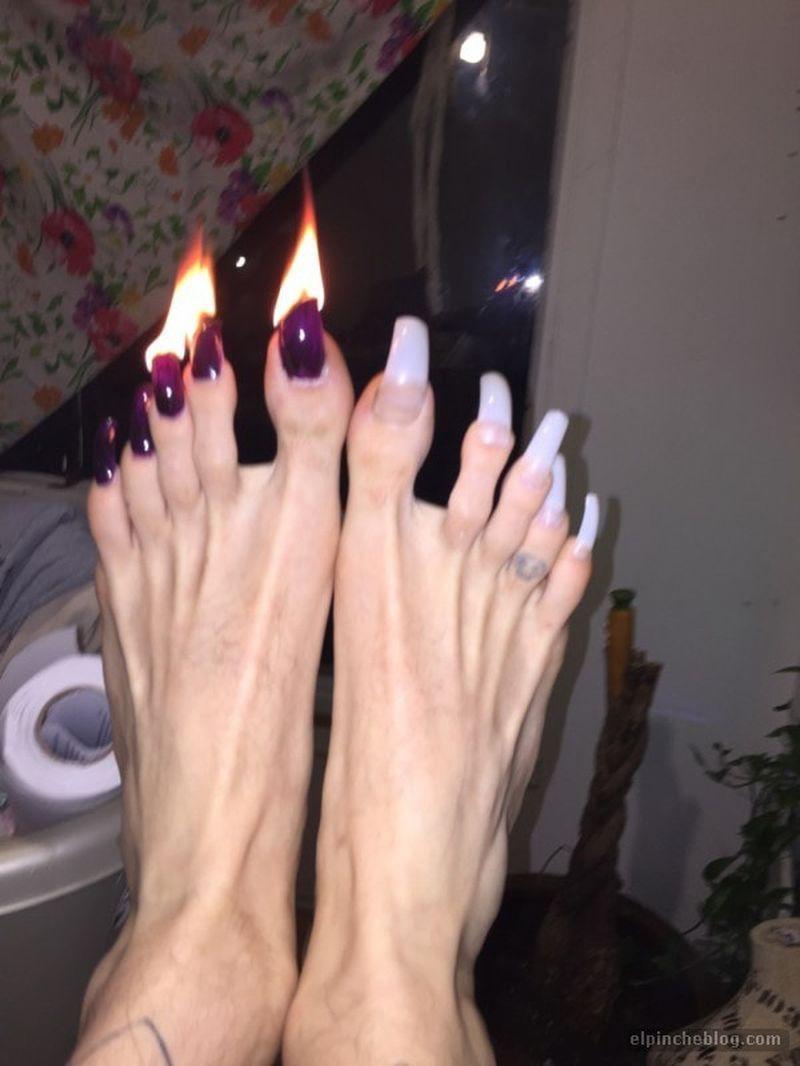 Свои длинные ногти у девушек фото