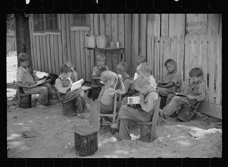 9. Школа на ферме. Штат Алабама. Июнь 1936. америка, великая депрессия, кризис