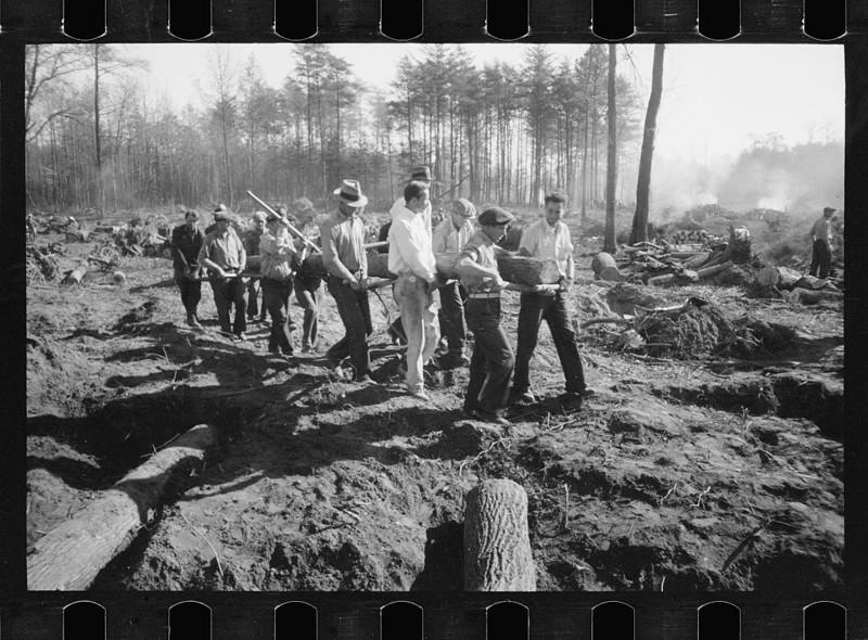 3. Дорожное строительство. Мэриленд. 1935 год. америка, великая депрессия, кризис