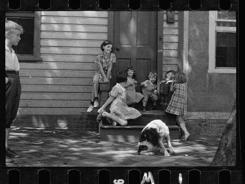 4. Дети бедняков, Джорджтаун, округ Колумбия. Ноябрь 1935 года. америка, великая депрессия, кризис