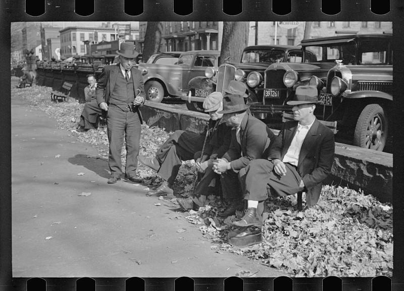 14. Общественный парк, Манчестер, Нью-Гэмпшир. Август 1936 года. америка, великая депрессия, кризис