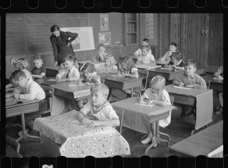 16. Школьный класс, Вашингтон. Ноябрь 1937 года. америка, великая депрессия, кризис