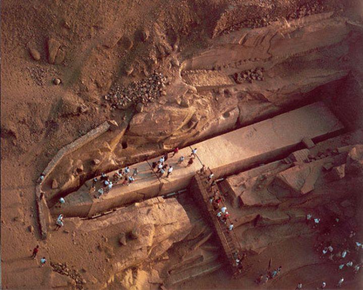 10. Незавершенный обелиск Хатшепсут археолог, находки