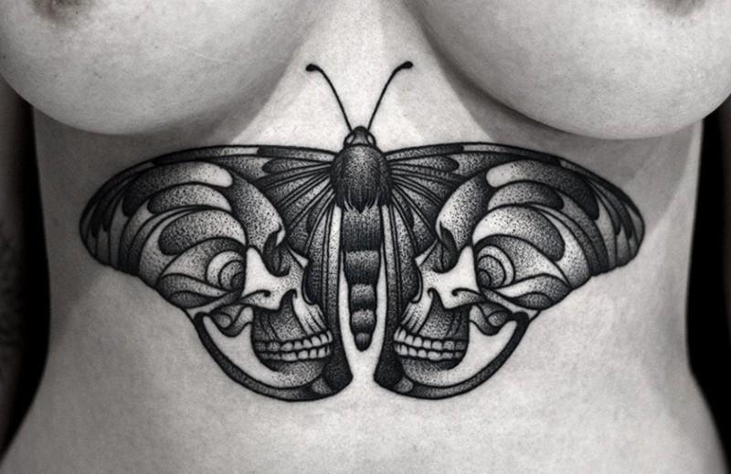 20 сексуальных татуировок под грудью, от которых вы не сможете оторвать глаза! грудь, девушки, тату