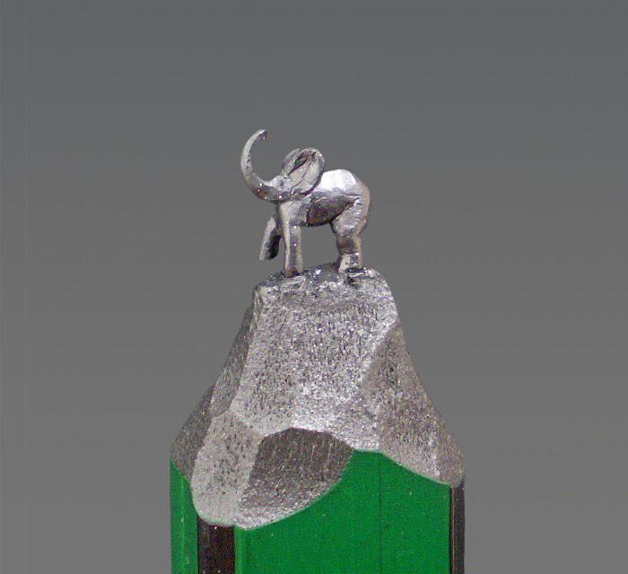 Скульптуры на кончике карандаша грифель, карандаш, скульптура