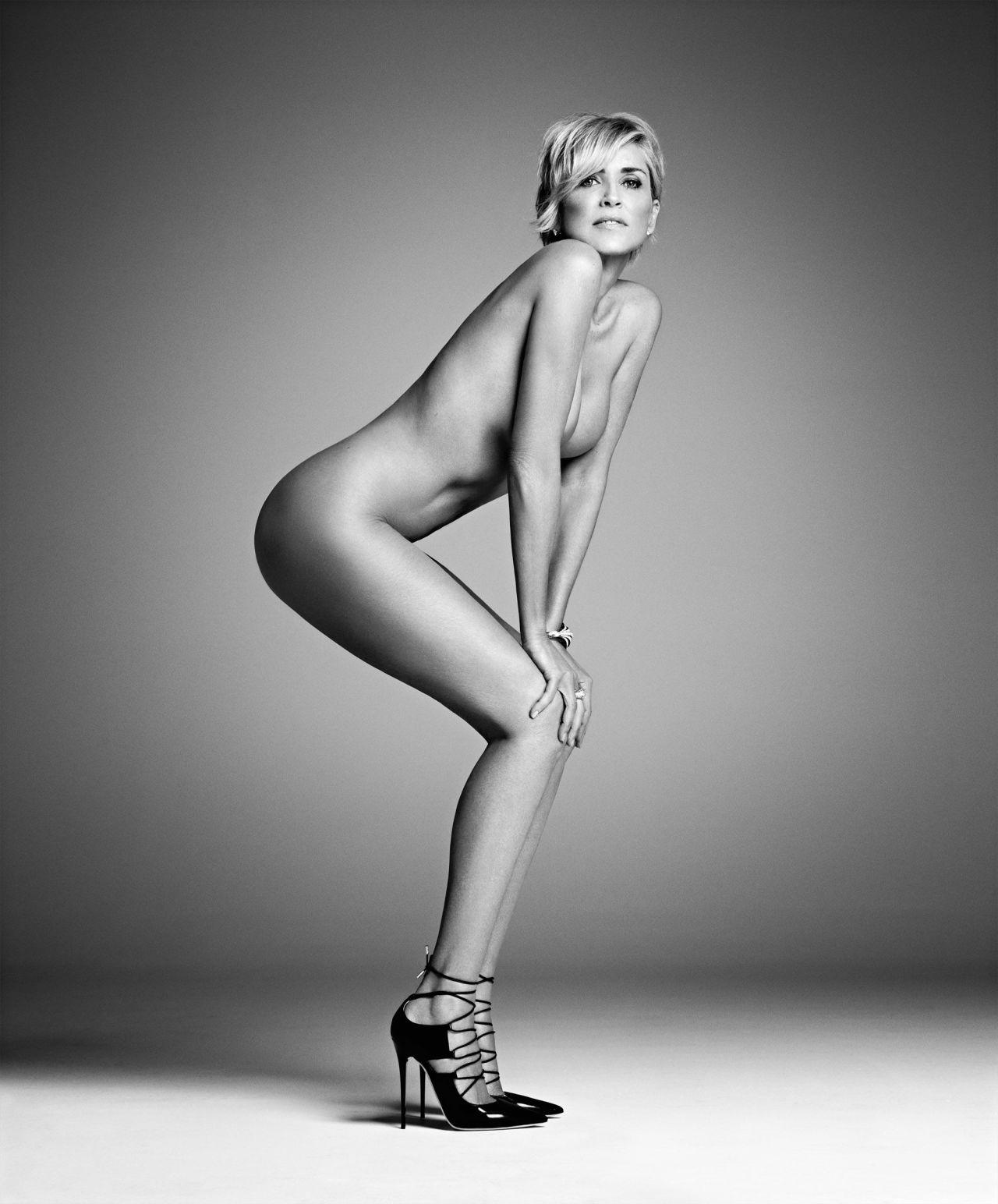 57-летняя Шэрон Стоун снялась полностью обнаженной нагота, фото, шэрон стоун