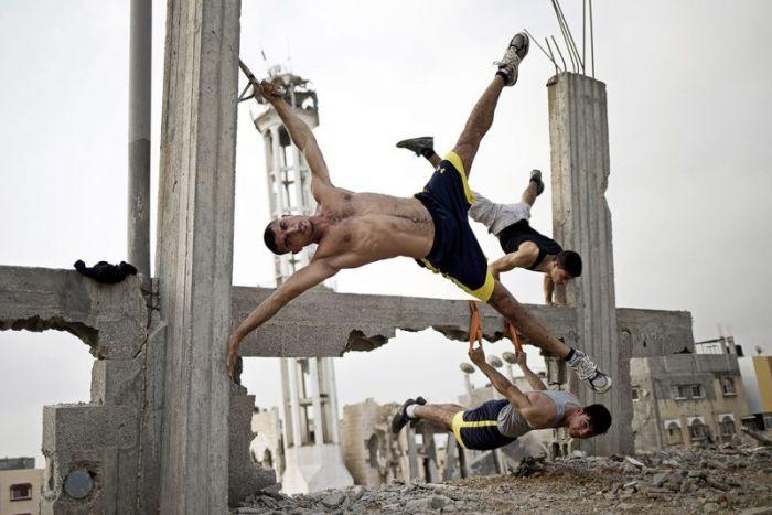 Любители воркаута из Палестины воркаут, палестина, спорт