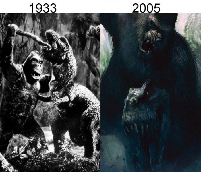 king kong movie comparison Face-off: king kong vs rise of the planet of the apes 07072014 by: and the only other ape-themed movie of recent memory worthy enough to be its opponent.