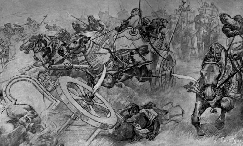 6. Серпоносная колесница. история, оружие