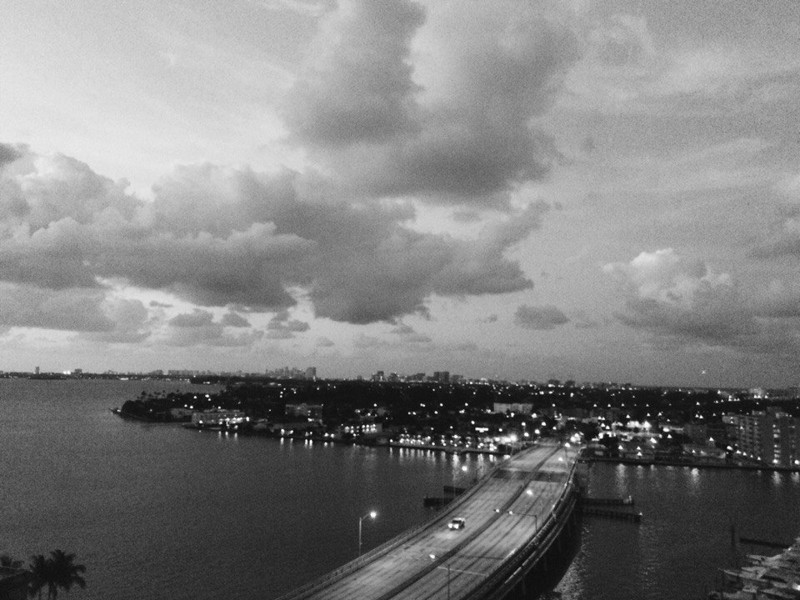 Miami and clouds