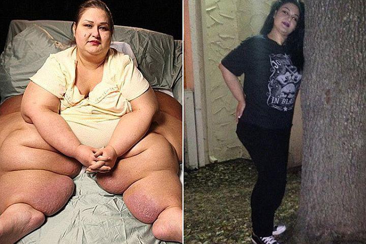 Девушка похудела на 408