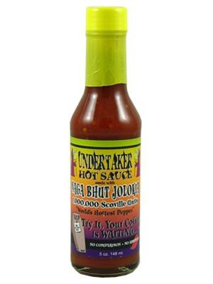 "7. ""Undertaker Hot Sauce with Naga Bhut Jolokia"" еда, острота, перец"
