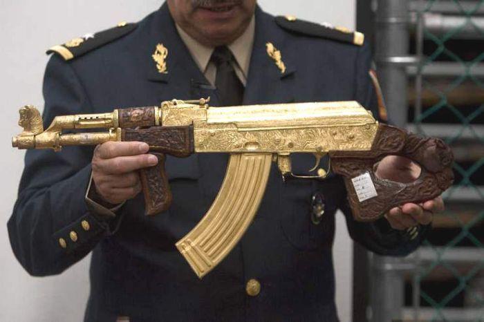 Роскошное оружие мексиканских наркобаронов искусство, оружие