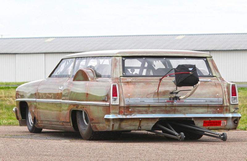 Ржавое, но очень быстрое корыто Chevrolet Nova Nova, chevrolet, авто, драгстер, тюнинг