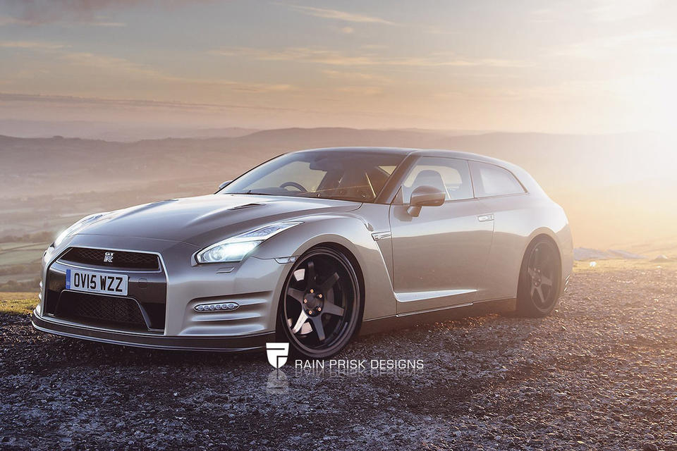 Nissan GT-R shooting brake, автодизайн, универсал, шутинг-брейк