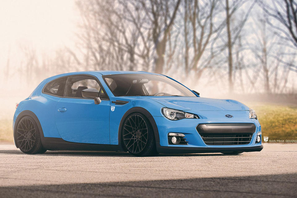 Subaru BRZ shooting brake, автодизайн, универсал, шутинг-брейк