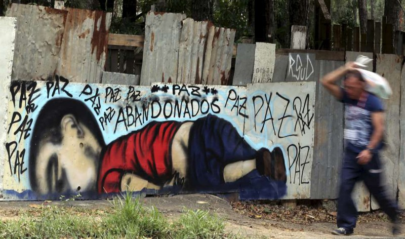 13. Граффити в Сорокаба, Бразилия беженцы, мир, помощь