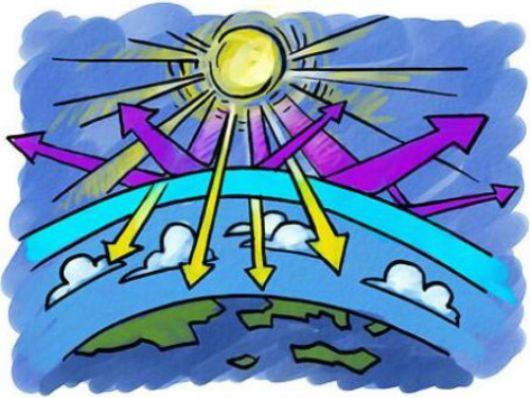 Картинка озонового экрана карандашом