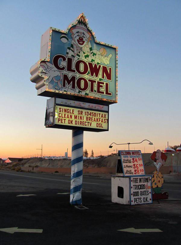 """13. Этот мотель """"Клоун"""" снимок, страх"""
