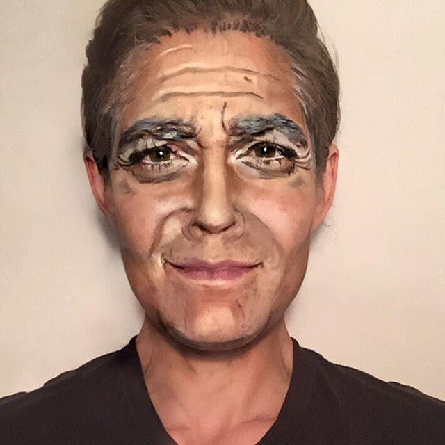 Джордж Клуни Ребекка Свифт, война, девушка, макияж