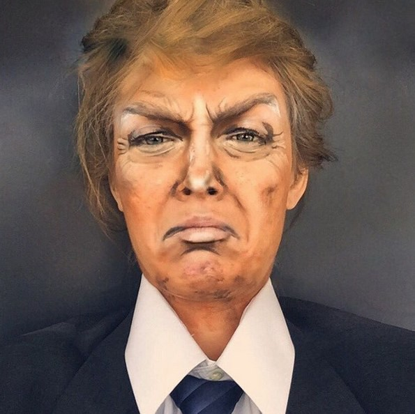 Дональд Трамп Ребекка Свифт, война, девушка, макияж