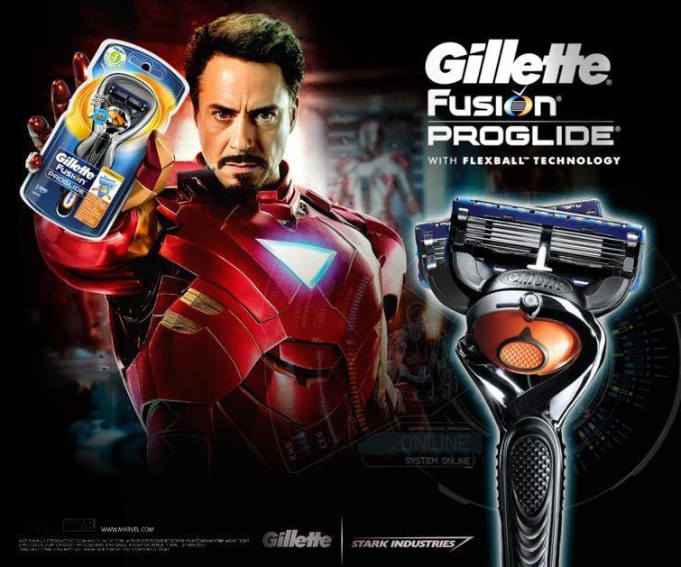 Железный человек выбирает чистое бритьё злодеи, реклама