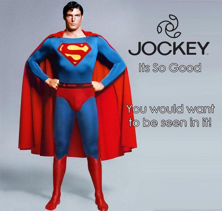 Супермен любит трусы Jockey злодеи, реклама
