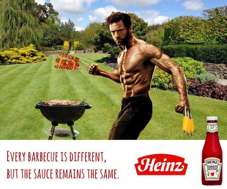 Росомаха на пикнике со своим любимым кетчупом злодеи, реклама