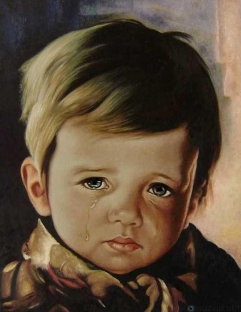 Открытка плачущий мальчик