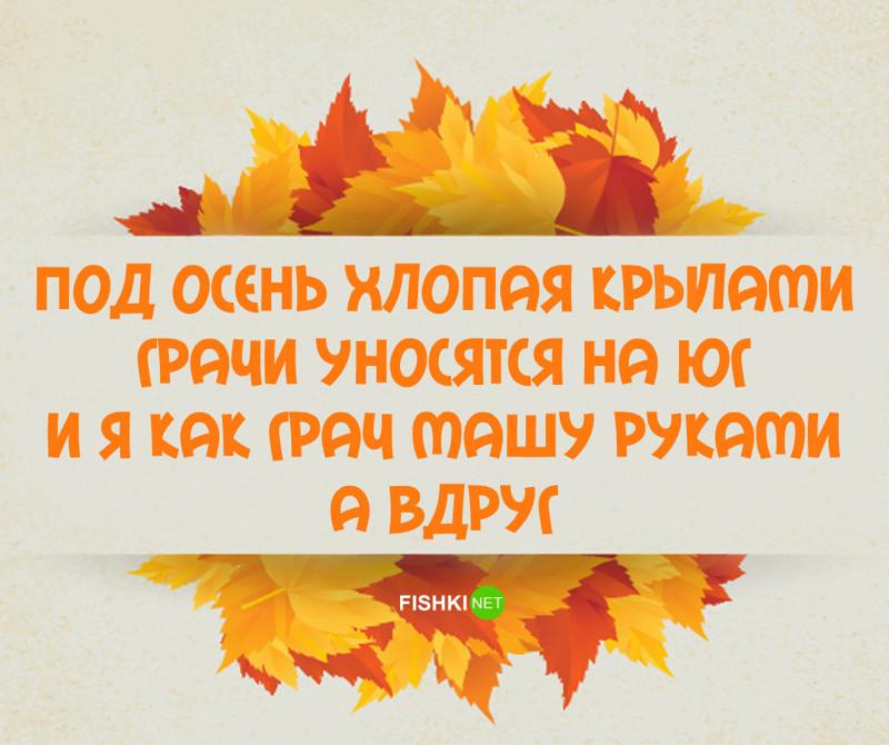 Анимации, смешные стихи про осень с картинками