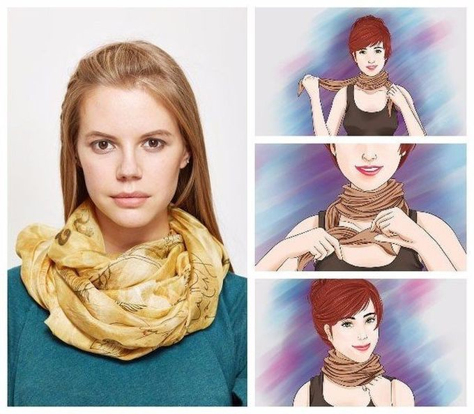 Можно красиво завязывать шарфы