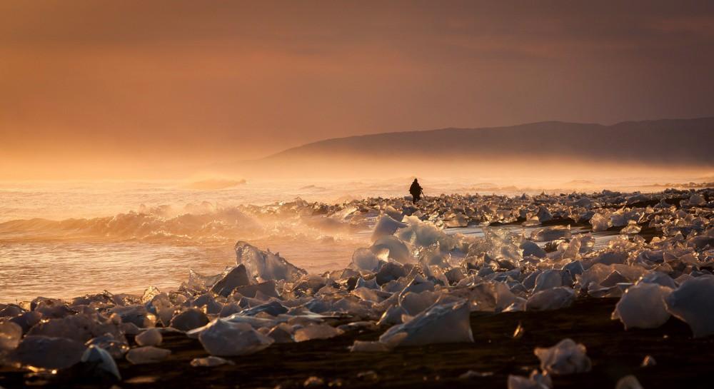 3. Исландская ледниковая Йёкюльсаурлоун красиво, природа, факты