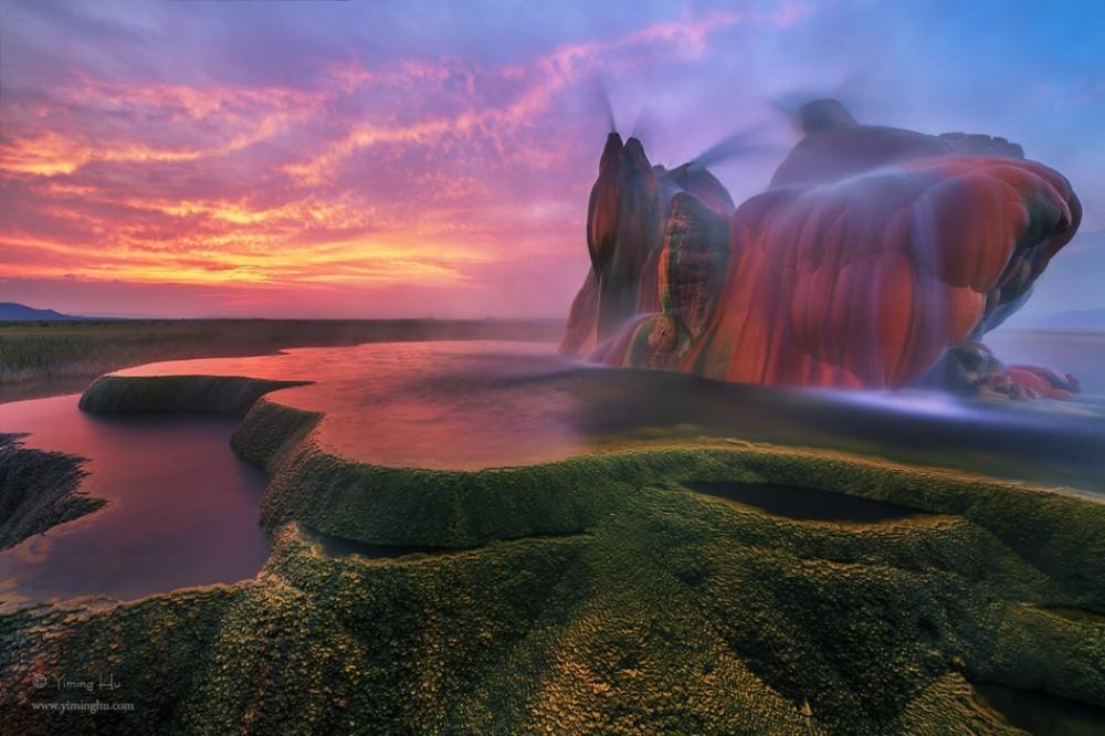 2. Гейзер Флай, США красиво, природа, факты