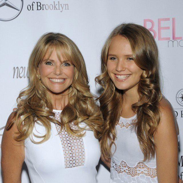 6. Кристи Бринкли и её дочь Сейлор голливуд, дети, родители