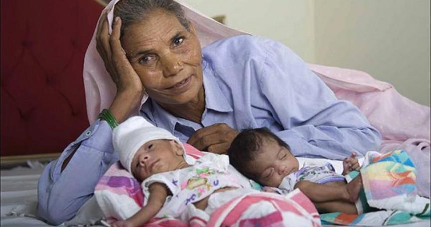 Картинки по запросу Самая пожилая мама в мире родила двойняшек в 2008