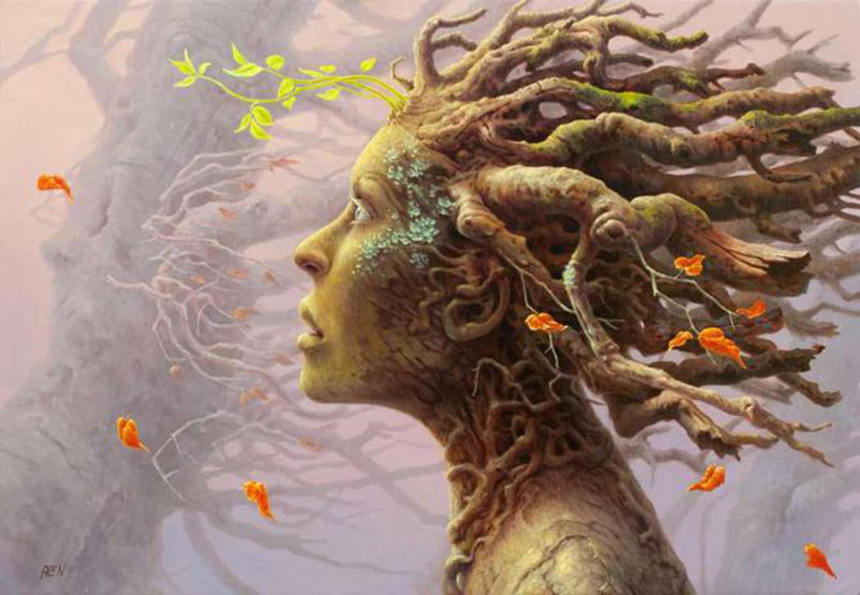 Сюрреалистические картинки деревьев