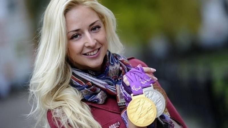 2. Олеся Владыкина. паралимпийцы, чемпионы
