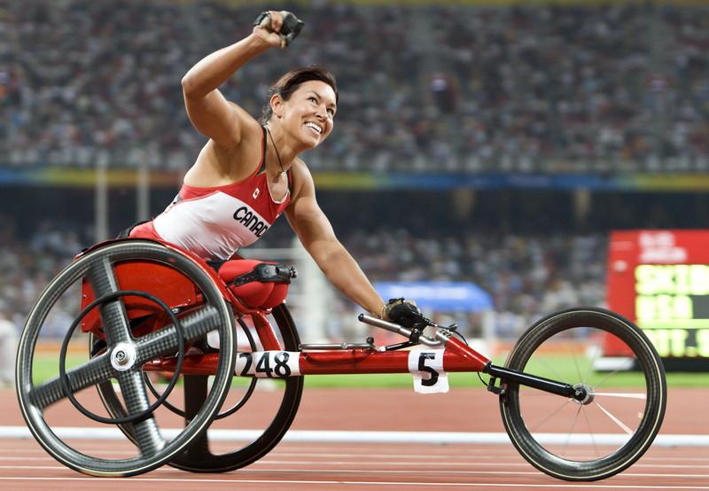 3. Шанталь Петиклер. паралимпийцы, чемпионы