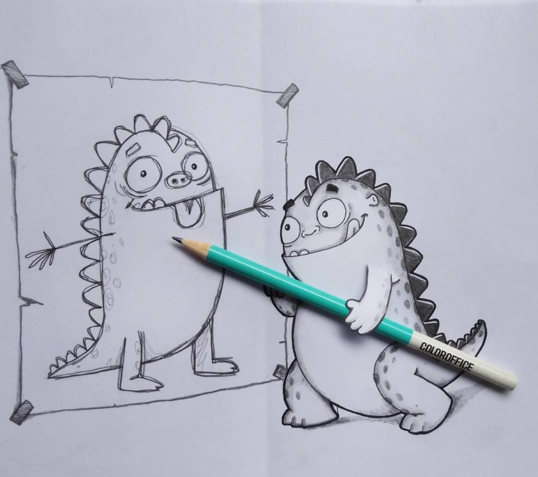 Ржачные картинки нарисованные карандашом, открытки дню рождения
