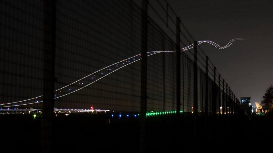 17. Взлёт самолёта снятый на длинной выдержке. без фотошопа, удивительные фотографии