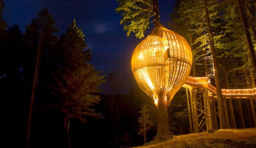 8. Ресторан на дереве Yellow Treehouse Restaurant интересное, мир, ресторан