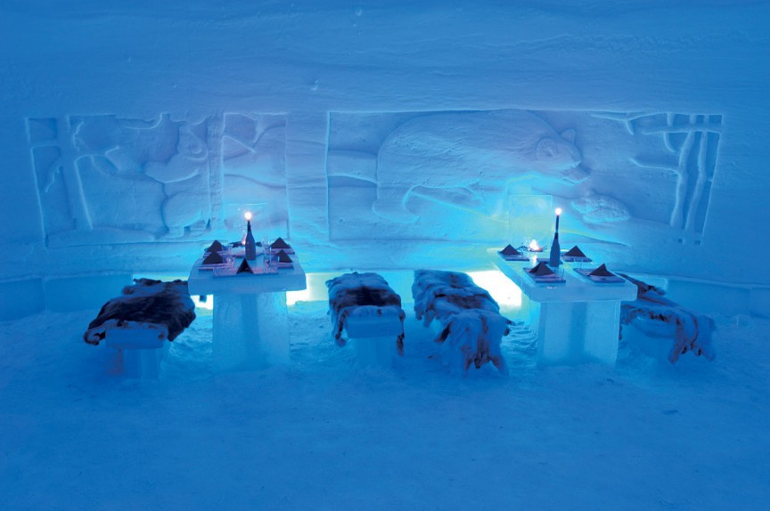 10. Снежная деревня Lainio интересное, мир, ресторан