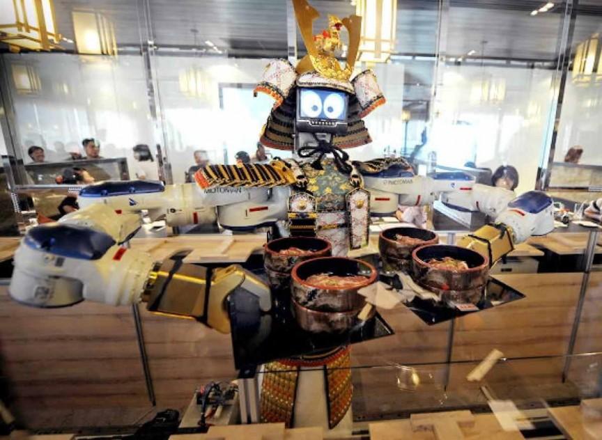 12. Ресторан роботов интересное, мир, ресторан