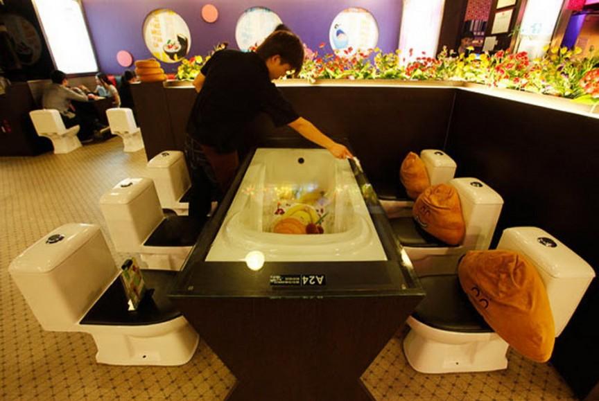 7. Ресторан-туалет интересное, мир, ресторан