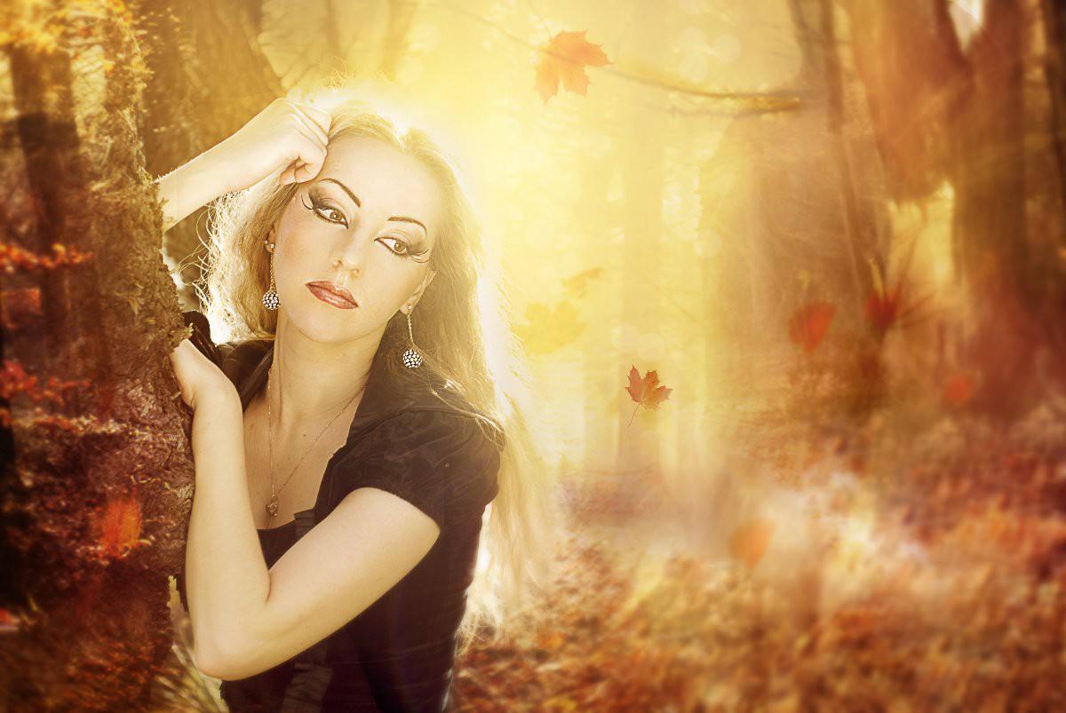 Картинки осени и женщины