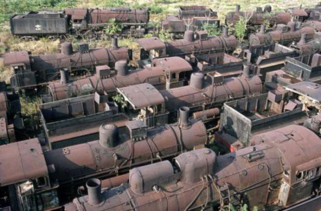 9. Кладбище поездов мир, поразительно, свалки, ужасает, факты, экология