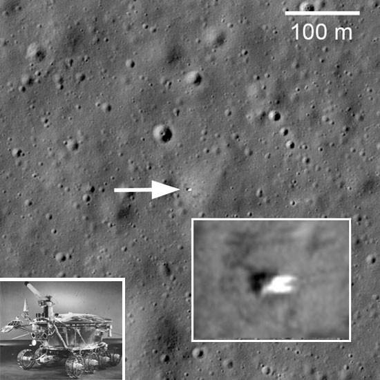 луноход фото на луне место посадки стержневой