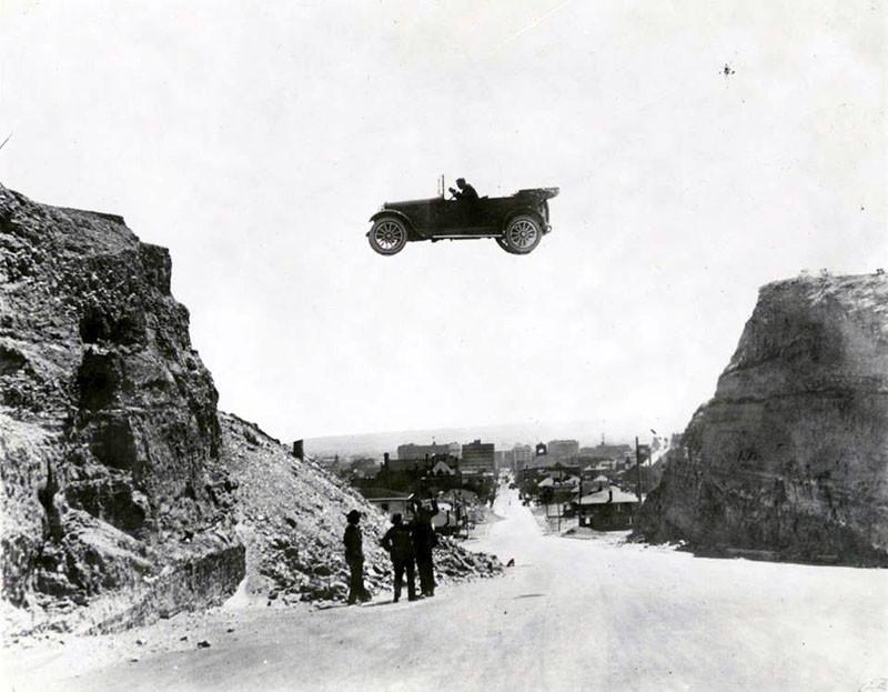 Прыжок на автомобиле. Эль Пасо (Техас), 1922 год: интересные, история, снимки